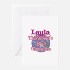 Layla - Best Grandma in the W Greeting Card