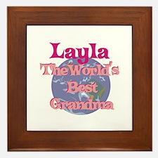 Layla - Best Grandma in the W Framed Tile