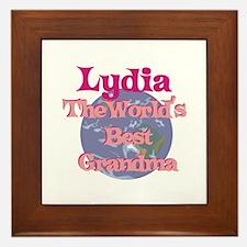 Lydia - Best Grandma in the W Framed Tile
