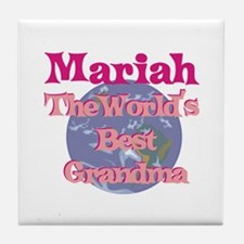 Mariah - Best Grandma in the Tile Coaster