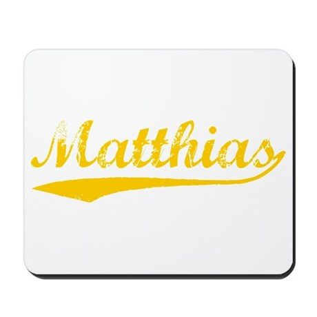 Vintage Matthias (Orange) Mousepad