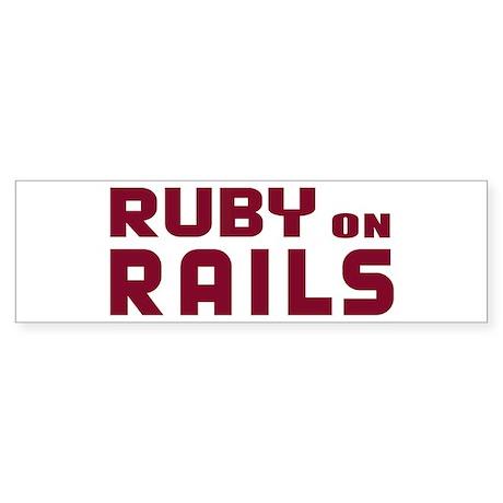 Ruby on Rails Bumper Sticker