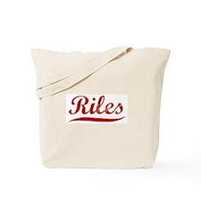 Riles (red vintage) Tote Bag
