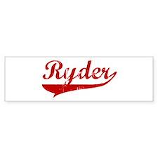 Ryder (red vintage) Bumper Bumper Sticker