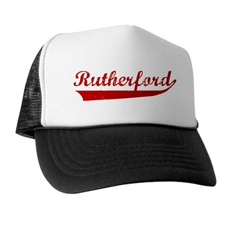 Rutherford (red vintage) Trucker Hat