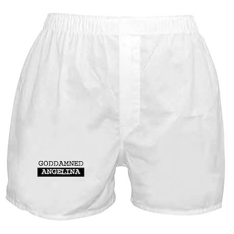 GODDAMNED ANGELINA Boxer Shorts
