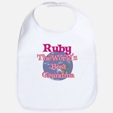 Ruby - Best Grandma in the Wo Bib