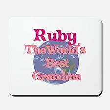 Ruby - Best Grandma in the Wo Mousepad