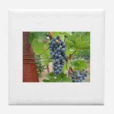 Wine Grapes Tile Coaster