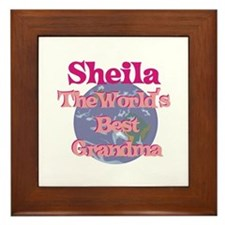 Sheila - Best Grandma in the Framed Tile