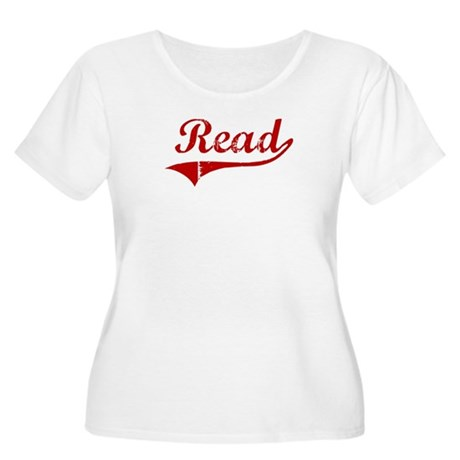 Read (red vintage) Women's Plus Size Scoop Neck T-