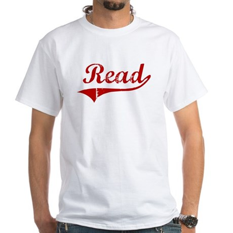 Read (red vintage) White T-Shirt