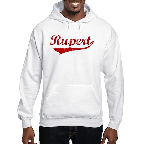 Rupert (red vintage) Hooded Sweatshirt