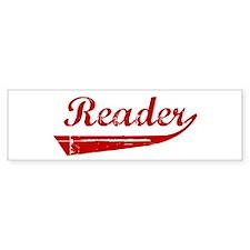 Reader (red vintage) Bumper Bumper Sticker