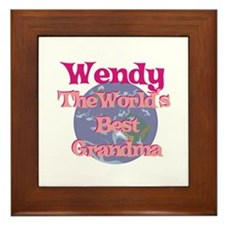Wendy - Best Grandma in the W Framed Tile