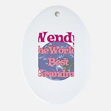 Wendy - Best Grandma in the W Oval Ornament