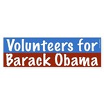 Volunteers for Barack Obama bumper sticker
