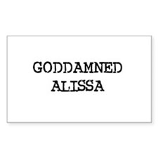 GODDAMNED ALISSA Rectangle Decal