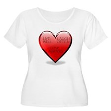 Live Laugh Love Heart T-Shirt