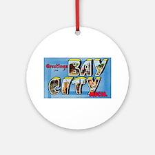 Bay City Michigan Greetings Ornament (Round)