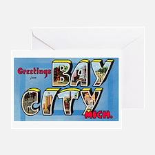 Bay City Michigan Greetings Greeting Card