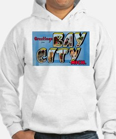 Bay City Michigan Greetings (Front) Hoodie