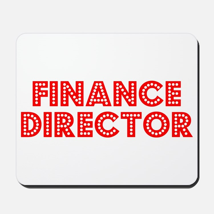 Retro Finance Dir.. (Red) Mousepad