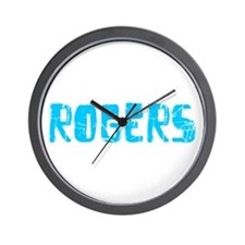 Rogers Faded (Blue) Wall Clock