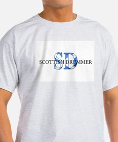 Scottish Drummer SD Ash Grey T-Shirt