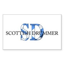 Scottish Drummer SD Rectangle Decal
