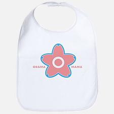 obama mama flower - pink_01 Bib