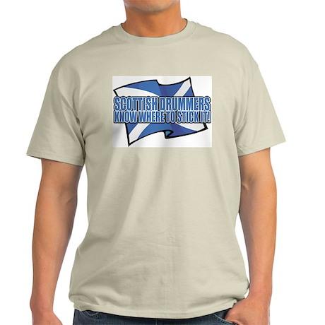 Scottish Drumers Know Where t Ash Grey T-Shirt