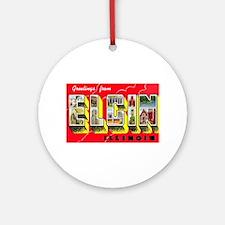 Elgin Illinois Greetings Ornament (Round)
