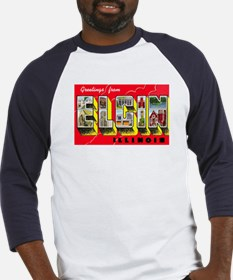 Elgin Illinois Greetings (Front) Baseball Jersey