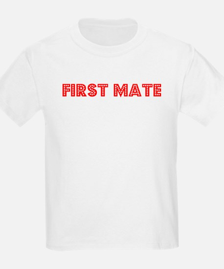 Retro First Mate (Red) T-Shirt