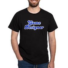 Retro Game designer (Blue) T-Shirt
