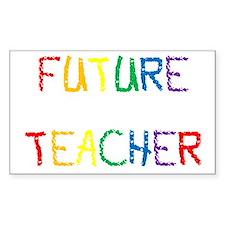 Future Teacher Rectangle Decal