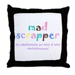 Mad Scrapper Throw Pillow