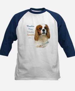 Cavalier Best Friend1 Kids Baseball Jersey