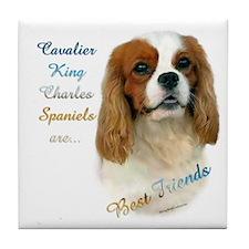 Cavalier Best Friend1 Tile Coaster