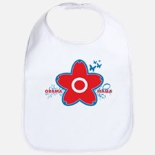 obama mama flower - red_04 Bib