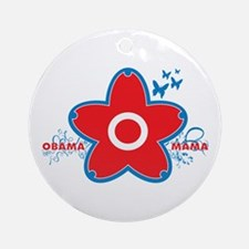obama mama flower - red_04 Ornament (Round)