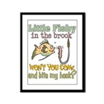 Little Fishy in the Brook Framed Panel Print