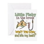 Little Fishy in the Brook Greeting Cards (Pk of 10