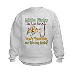 Little Fishy in the Brook Kids Sweatshirt