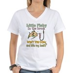 Little Fishy in the Brook Women's V-Neck T-Shirt