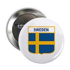"Cute Sweden flag 2.25"" Button"