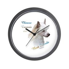 Crested Best Friend1 Wall Clock