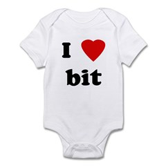 I Love bit Infant Bodysuit
