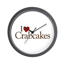 I Love Crabcakes Wall Clock